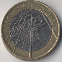 Moeda Centenário Dos Jogos Olímpicos Londres 2008