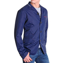 Chamarra Tipo Impermeable Hombre Silver Plate Exclusiva