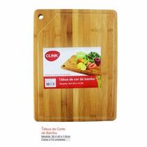 Tábua De Corte De Bambu P/carnes Peixes 40x30cm Ecológico