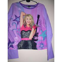 Camiseta Niña Micropolar Talle 10/12 Años Hannah Montana
