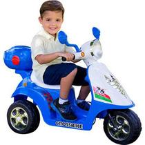 Scooter Elétrica Infantil 6v Azul - Modelo Grande