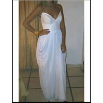 Vestido De Gala Blanco Talla S