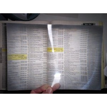 3x Página Completa Lupa Fresnel Lente