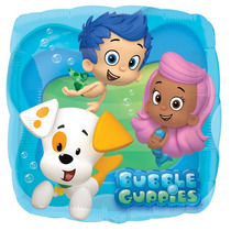 5 Globos Metalicos De Bubble Guppies De 18 Pulgadas, Fiesta