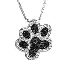 Hermoso Collar Pata De Perro / Gato Con Cristales