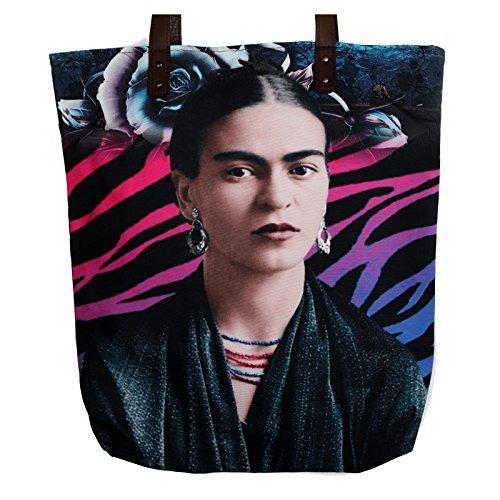 Kahlo Bolso Hombro Impreso De Akitai Mujer Lona Frida Joven cwYqqEfZ
