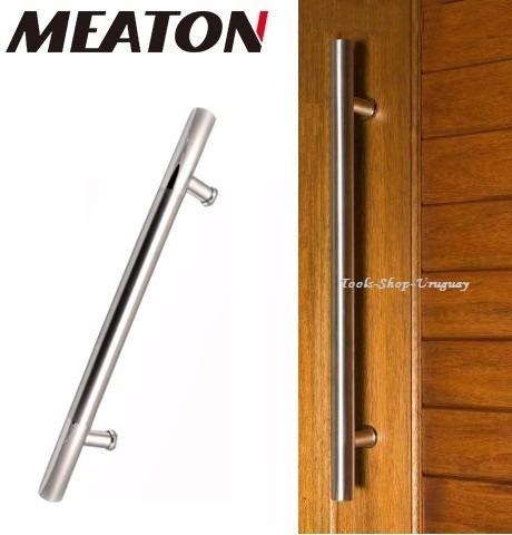 Manijon a inoxidable para puertas de madera meaton 50cm for Manijas para puertas