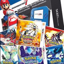 New 2ds + 18 Jogos Originais Pokemon Sun Moon Y X Oras Mario