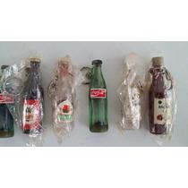 Mini Botellas - Lote De Botellas Plasticas Antiguas Vintage