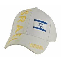 Gorra Blanca Con La Bandera De Israel