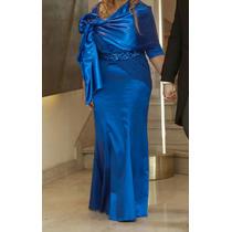 Vestido Azul Francia, Talle L, Un Solo Uso. Impecable!!!