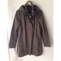 Lindo Impermeable Trench Zara Woman Talla L Verde Militar Nu