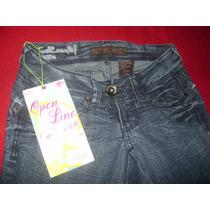 Pantalón Jeans Dama Marca Open Line Talla 28 Nuevo