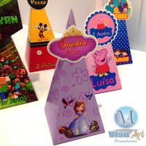 Cone Pirâmide Personalizado Aplique 3d Princesa Sofia