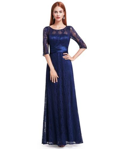 f0239403f Nunca-bonito Ee Largo De Encaje Vestidos De Noche Elegante -   321.990 en Mercado  Libre