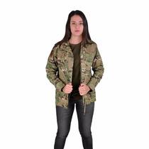 Jaqueta Militar Feminina Camuflado Multicam P Ao G