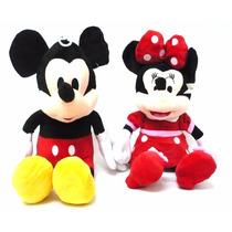 Boneco Pelucia Minnie & Mickey Mouse Médio 55cm Antialergico