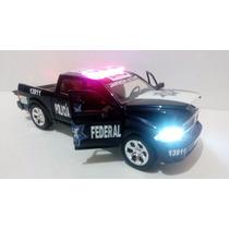 Dodge Ram Patrulla Policia Federal Con Luz Esc. 1:24