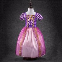 Vestido Fantasia Princesa Rapunzel Pronta Entrega Promoção