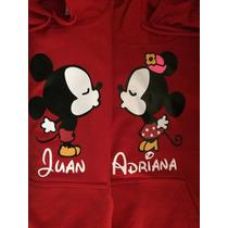 Sudaderas Mickey Mouse Disney Parejas I Love San Valentin