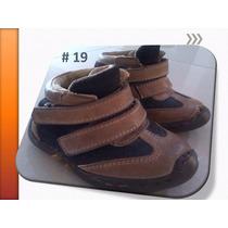Zapatos Botines De Cuero Para Niños Nª19 Subasta Hoy