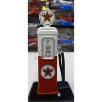 1:18 Bomba De Gasolina Metalica Texaco Blanco C Rojo Diorama