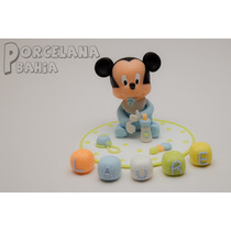 Mickey Bebé En Porcelana Fria - Adorno Para Torta