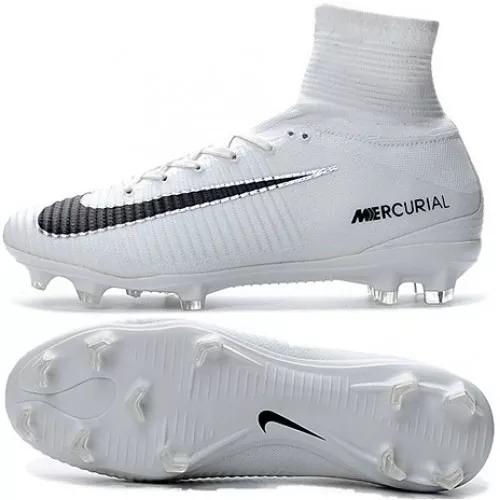separation shoes e31a0 c2097 where to buy guayos nike mercurial superfly v fg cr7 blanco negro hombre  190.000 en mercado