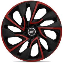 Calota Aro 14 Esportiva Ds4 Red Universal Fiat Ford Gm Vw