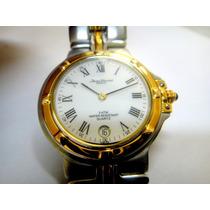 Relógio Jean Vernier Parcifal Aço Ouro 34mm