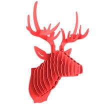 Venado Rojo Cabeza Decorativa Animal Decoracion Valchromat8m