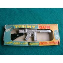 Antiguo Juguete Ingles Tommy Gun Lone Star En Caja