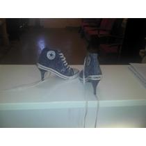 Zapatos Zapatillas Jean Con Taco, Comodos!