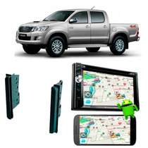 Dvd Player Carro Hilux Bluetooth Gps Moldura Camera Ré
