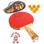 Set Dos Paletas De Ping Pong Giant Dragon 3 Estrellas +funda
