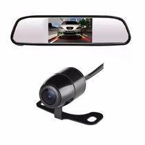 Espelho Retrovisor Tech One Com Camera De Re 2x1 Preto