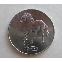 Coréia Do Norte: Bela Moeda 1/2 Chon 2002 Fc Cavalo 28 Mms