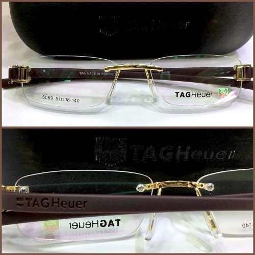 3d9cb484088c7 Armação Óculos Masculino Th5069 Marrom Dourado - R  99,00 em Mercado Livre