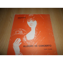 Vendo Partitura Para Piano Solo Allegro De Concierto