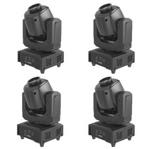 4 Peças Mini Moving Head Spot Led 35w Potente 7 Gobos Dmx Dj