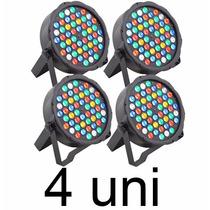 4 Canhão Refletor Par 64 Rgbwa 54 Leds 3w Slim Frete Grátis