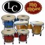 Latin Custom Lc4050 Bongo Mini 4 Y 5 Parches Cuero C/ Llave