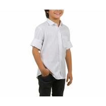 Camisa Social Infantil Tricoline - Loja De Fábrica