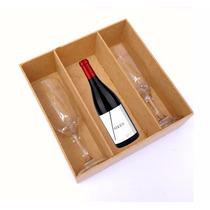 Kit 30 Caixas Para Taças E Mini Vinho - Casamento - Mdf Crú