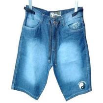 Bermuda Jeans Masculina Tony Country Mesclado Com Cordo