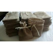 Bolsitas De Arpilllera Souvenirs ( Pack X 10 Unidades)
