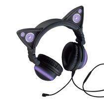 Cat Ear Audifonos Orejas De Gato, Morado - Blakhelmet Sp
