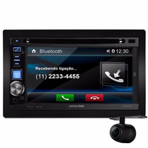 Dvd Player Alpine Nacional Ive-w530 2 Din Bluetooth + Câmera