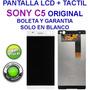 Pantalla Lcd + Tactil Sony C5 Ultra Original Boleta Garantia