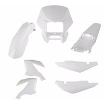 Kit Plástico Carenagem P/ Nxr Bros 150 Ano 2008 - Branco